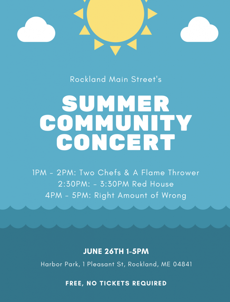 2021 Summer Concert Series Rockland Main Street